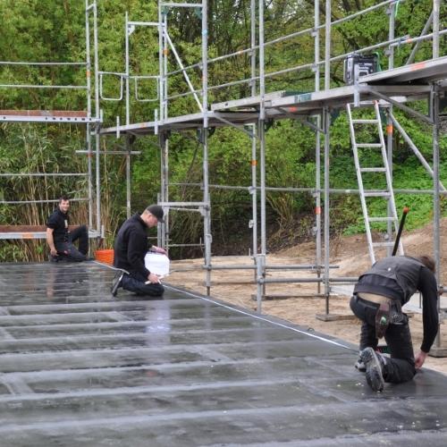 Mitarbeiter Holzbau Gebäude