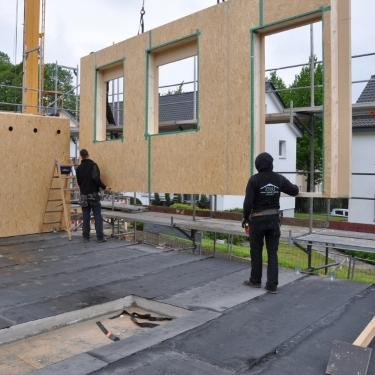 Seitenwand Holz - Haus aus Holz