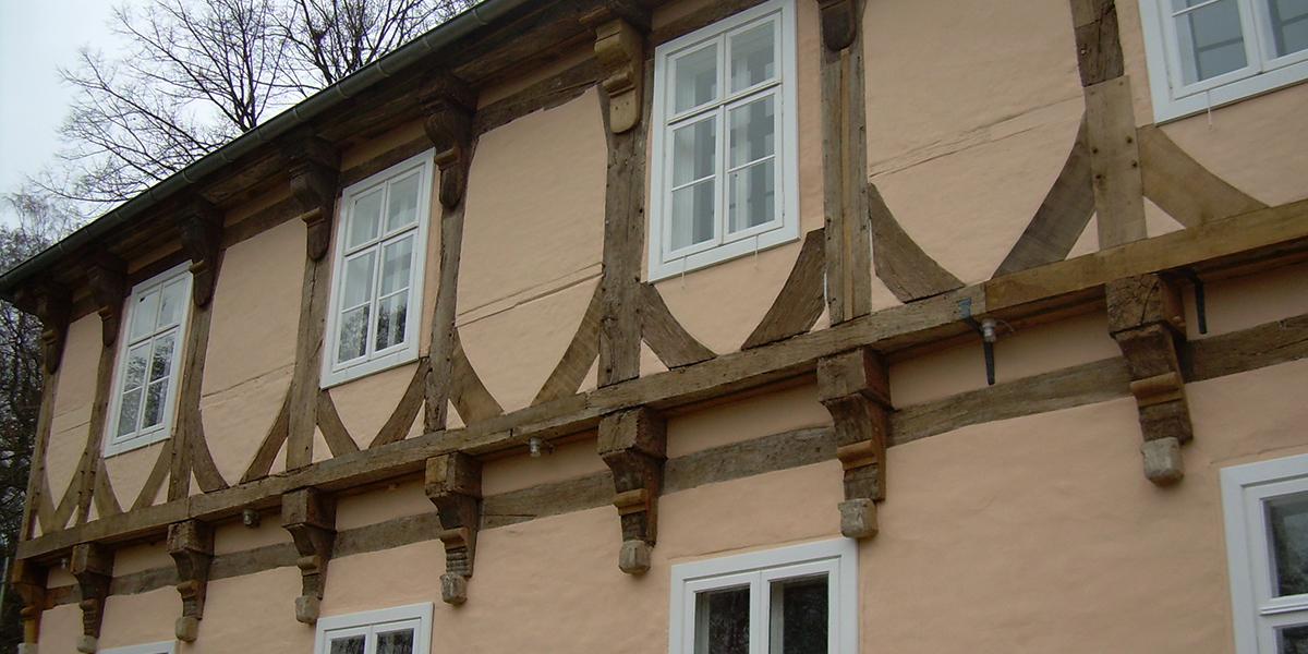 Burg Hopen Sanierung Fachwerk