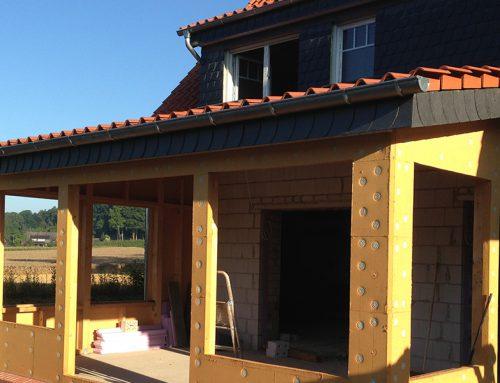 Erweiterung und Dacheindeckung