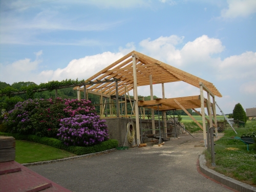 Carportbau aus Holz