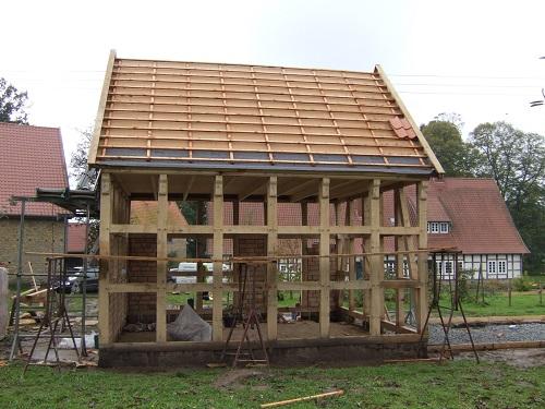 Hühnerhaus Fachwerk Neubau