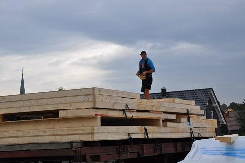 Foto LKW Ladung Holzbau