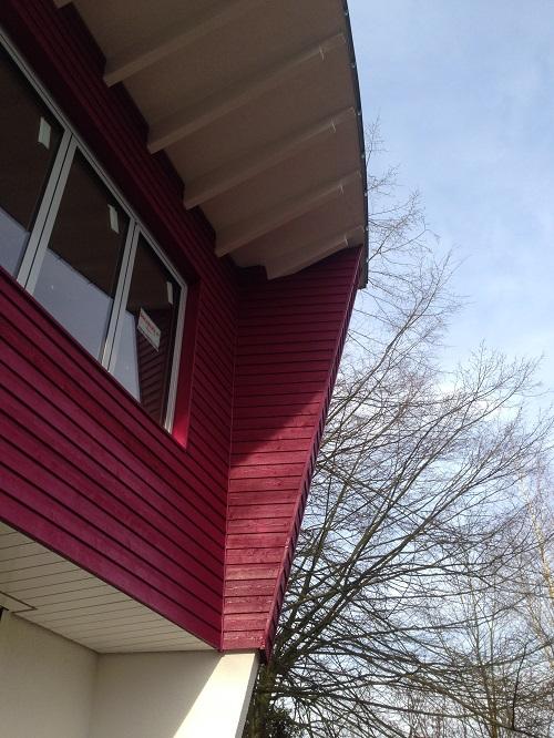 Fassadengestaltung ZHG Holz & Dach