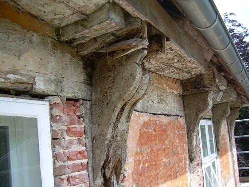 Sanierung altes Fachwerk Burg Hopen